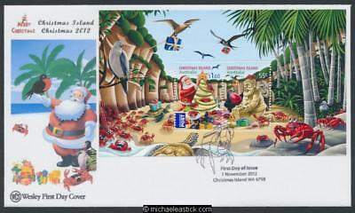 01-Nov-2012 Christmas Island Christmas Miniature Sheet First Day Cover