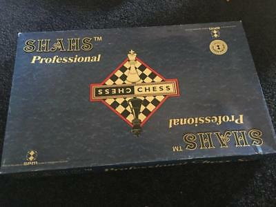 Vintage '' Shahs Professional Chess Board Game - Shahs  - In Box - Collectable -