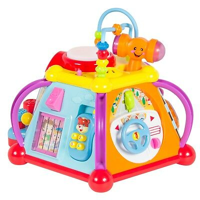 Kids Toddlers Musical Activity Cube Play Toy Baby 15 Function Lights Sounds Gift