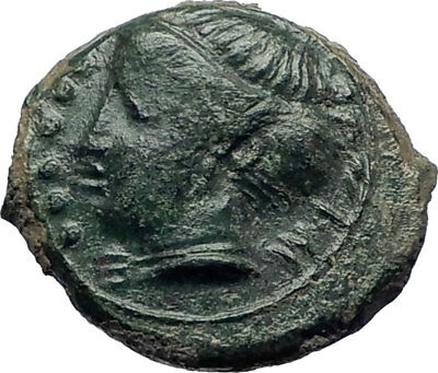 HIMERA Sicily 420BC QUALITY Ancient  Greek Coin Nymph & LAUREL Wreath i73989