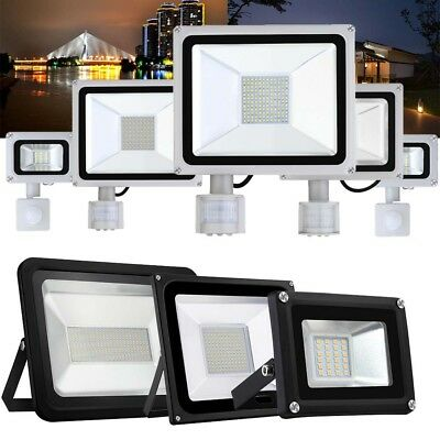 LED Floodlight PIR Motion Sensor Security Lamp 10W 20W 30W 50W 300W Cool/Warm UK