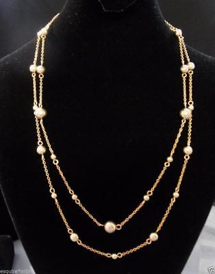 CHAPS women gold plated bated interval two strand dreaded necklace NEW