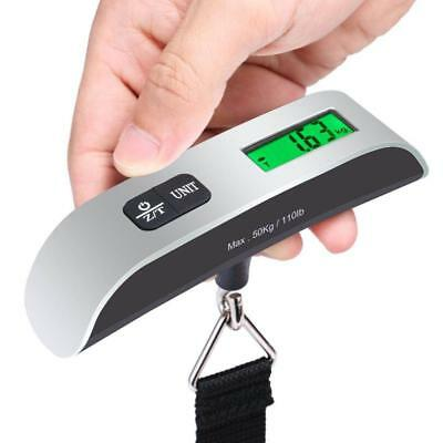 Fosmon Portable Travel Tare 110lb 50kg Hanging Digital Suitcase Luggage Scale