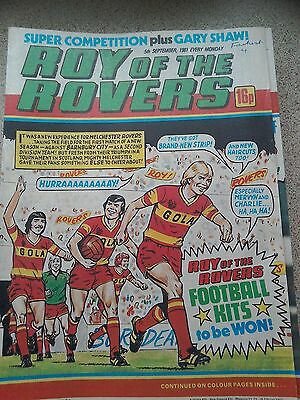 Roy of the Rovers 05th September 1981 Centre Pages Feature Gary Shaw