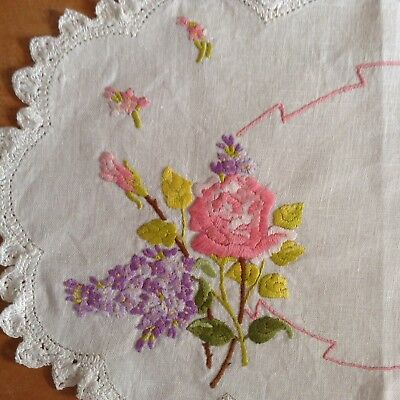 Assortment of 28 Vintage Handworked/Embroidered DOILIES Great Condition