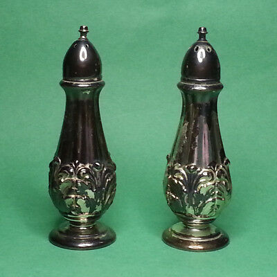 Silverplated Salt & Pepper Shakers Vintage by W. B. Mfc Co