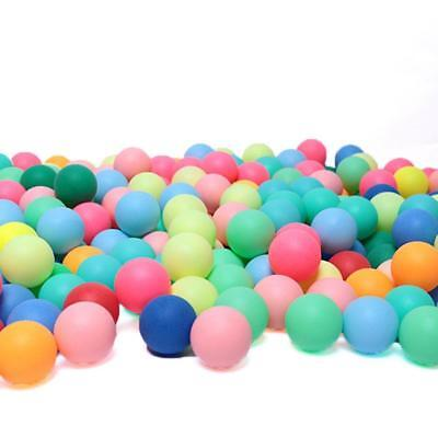 100Pcs/set Colored Ping Pong Balls Entertainment Table Tennis Ball MultiC NICE