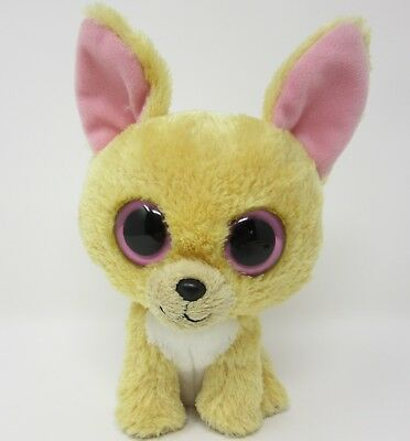 Ty Beanie Boo Nacho Chihuahua puppy dog beige brown soft toy plush small 6