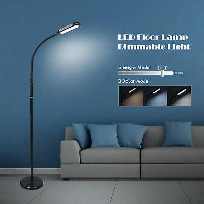 Adjustable LED Floor Lamp Standing Light Reading Dimmable Office Home Gooseneck