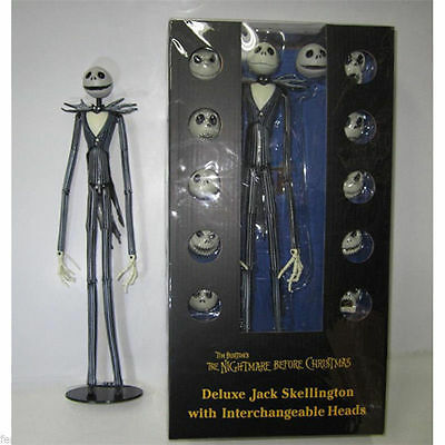 "NEW Nightmare Before Christmas Jack Skellington Figure 15"" Skull Heads Doll"