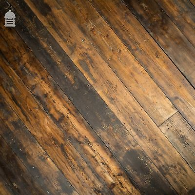 Industrial Victorian 6.5 Inch Wide T&G Pine Floorboards with Waxed Finish
