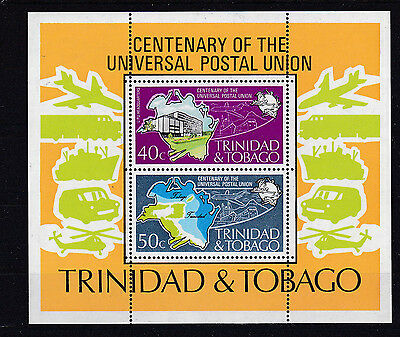 Trinidad + Tobago Bl.12** UPU 1974 POST