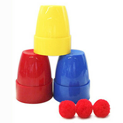 1Set Complete Course In Cups And Balls Magic - Includes Cups And Balls (5*6cm) s