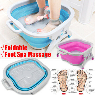 46x40x19cm Foldable Foot Soaking Bucket Bubble Foot Bath Massage Relax Soothing