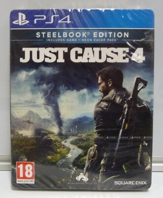 Just Cause 4 Steelbook Edition Playstation 4 Ps4 Pal Region Free New Sealed