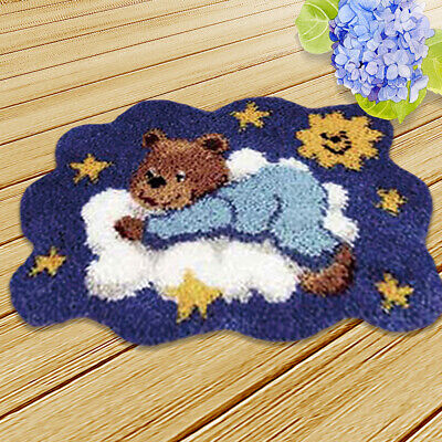 Latch Hook Rug Kits Crochet Needlework Crafts with Instruction for Kids Adults