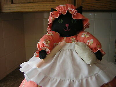 ~~TOASTER COVER DOLL~~4 slice toaster ~~BLACK KITTY CAT ~~~
