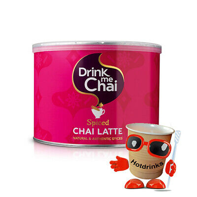 Drink Me Spiced Chai Latte Tea Drink Powder Tubs, Drums, Kegs, Jars [1kg Tubs]