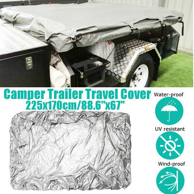 Travel Dustproof Waterproof Cover For Camper Trailer Tent With Ropes 225x170cm