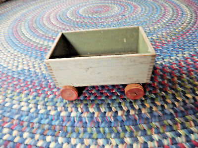 Vintage Antique Primitive Wood Child Play Small Wagon