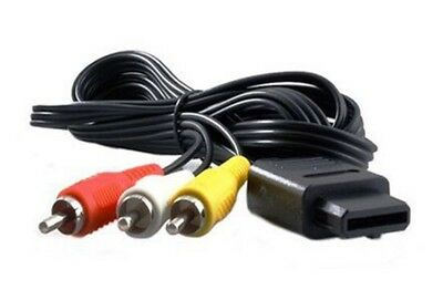LOT OF 100 NEW 6FT AV A/V TV Cable Cord Wire Gamecube SNES Super Nintendo 64