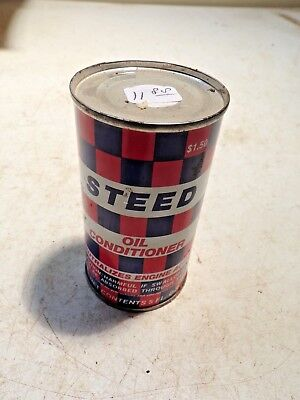 Old 5 Oz Can Steed Oil Conditioner  Lot A