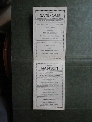 Post Card  L85907  Old Saybrook and Madison CT Movies being shown c-Sept 1955