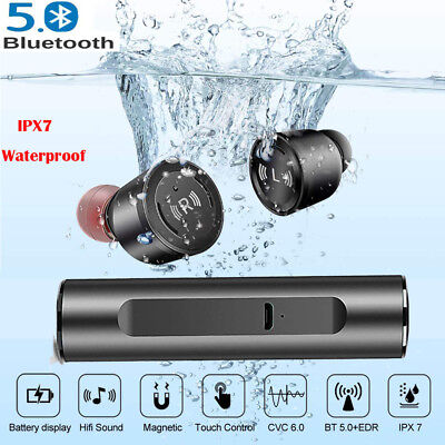 Waterproof TWS Bluetooth 5.0 Stereo Hifi In-Ear Earbuds Sports Earphone Headset