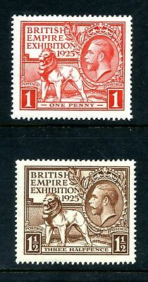 1925 WEMBLEY EXHIBITION 2v. GREAT BRITAIN KING GEORGE 5th FINE MINT FREEPOST UK