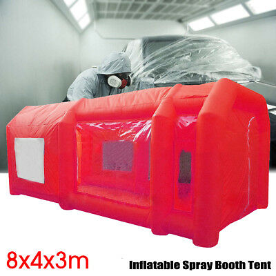 26x13x10Ft Inflatable Spray Booth Custom Tent Car Paint Booth Inflatable Red 8m