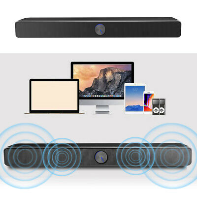 Home Powerful TV Sound Bar USB Speaker Stereo Subwoofer Music Player for PC W4F6