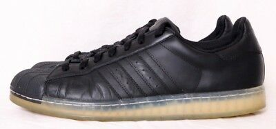 05e22596a5be Adidas Superstar CLR Black Shell-Toe Lace-Up Low Athletic Sneaker Men s US  12
