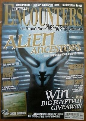 Uri Gellers ENCOUNTERS paranormal mags 8,9,10 1997 left at east gate ufo aliens