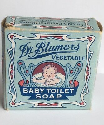 Vintage Dr. Blumers Vegetable Baby Toilet Soap Box Only