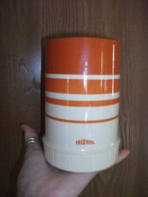 Vintage Wide Mouth Orange Soup Thermos 70F 73A63 763 FREE SHIPPING