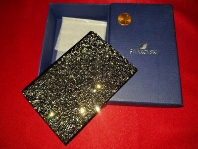 NEW Swarovski Crystal leather business card holder small wallet Great gift!