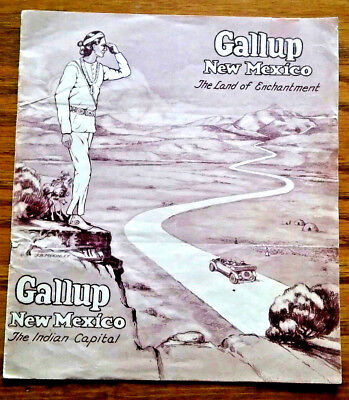 Vintage Gallup New Mexico / Native American Travel Brochure / NM History / ABQ