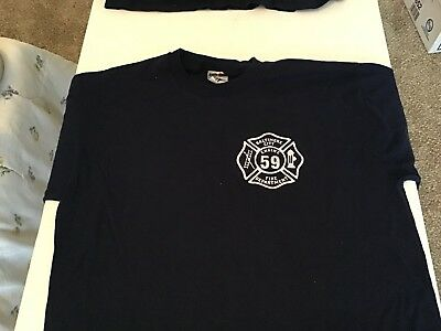 Baltimore City Fire Department Engine 59 T Shirt Size L Used