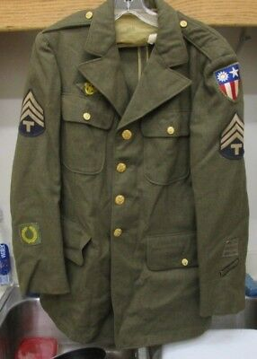 """World Ward 2 US Military Jacket With Patches """" CBI PATCH """" *"""