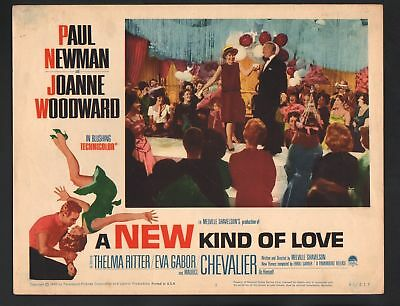 New Kind of Love Lobby Card #3-1963-Paul Newman and Joanne Woodward