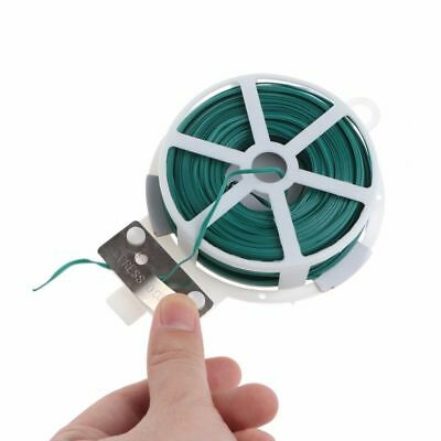 Garden Wire Green Twist Tie Reel Coated Plant Support Flexible 20m 30m 50m Long
