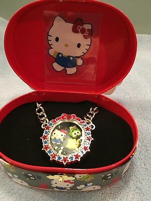 Hello Kitty Supercute Friendship Festival Necklace Floating Locket Loungefly Box