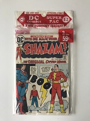 Dc Comics Super Pac B-2 Shazam #1 Superman #261 Batman #247 Vf/nm 1973