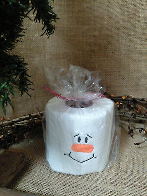 Snowman Embroidered Toilet Paper Stocking Stuffer Christmas Gift