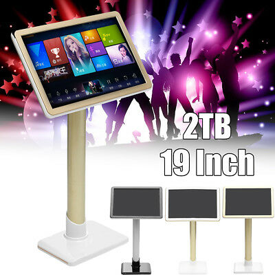 """Karaoke Machine Sing Song Integrated High-definition Touch Screen Player 2TB 19"""""""