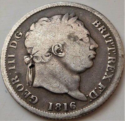 1816  George Iii Silver Shilling,very Nice 201 Year Old Coin