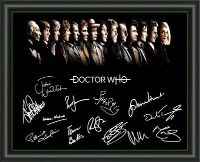 Doctor Who - All Doctors  - A4 Signed Autographed Photo Poster - Free Post!