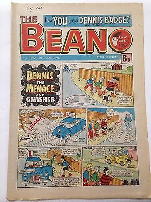 DC Thompson THE BEANO Comic. Issue 1902 December 30th 1978 **FREE UK POSTAGE**