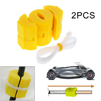 2* Universal Magnetic Fuel Saver for Vehicle Gas Reduce Emission yellow ABS