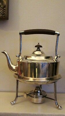 Art Deco  Silver Plate Martin Hall  Spirit Kettle & Burner